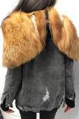 Куртка джинсовая зимняя с мехом 554 (2)